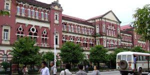 Kolonialbauten in Rangun