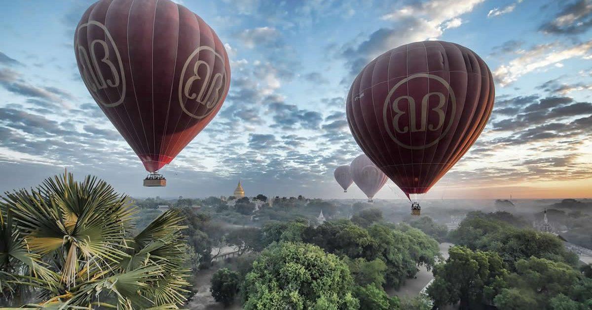 Ballons in Bagan Myanmar